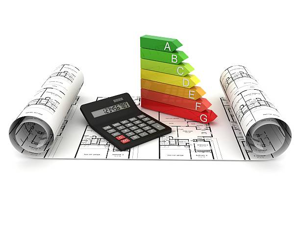 energy efficiency planning - energy performance certificate stock photos and pictures