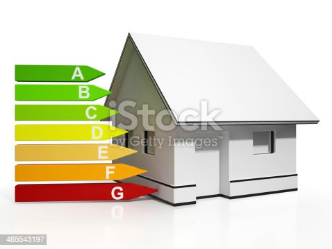 Energy Efficiency Rating And House Showing Conservation And Savings