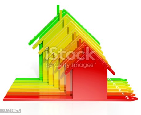 Energy Efficiency Rating Houses Show Eco Or Environmental Home