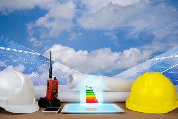 Calificación de eficiencia energética de los edificios - foto de stock