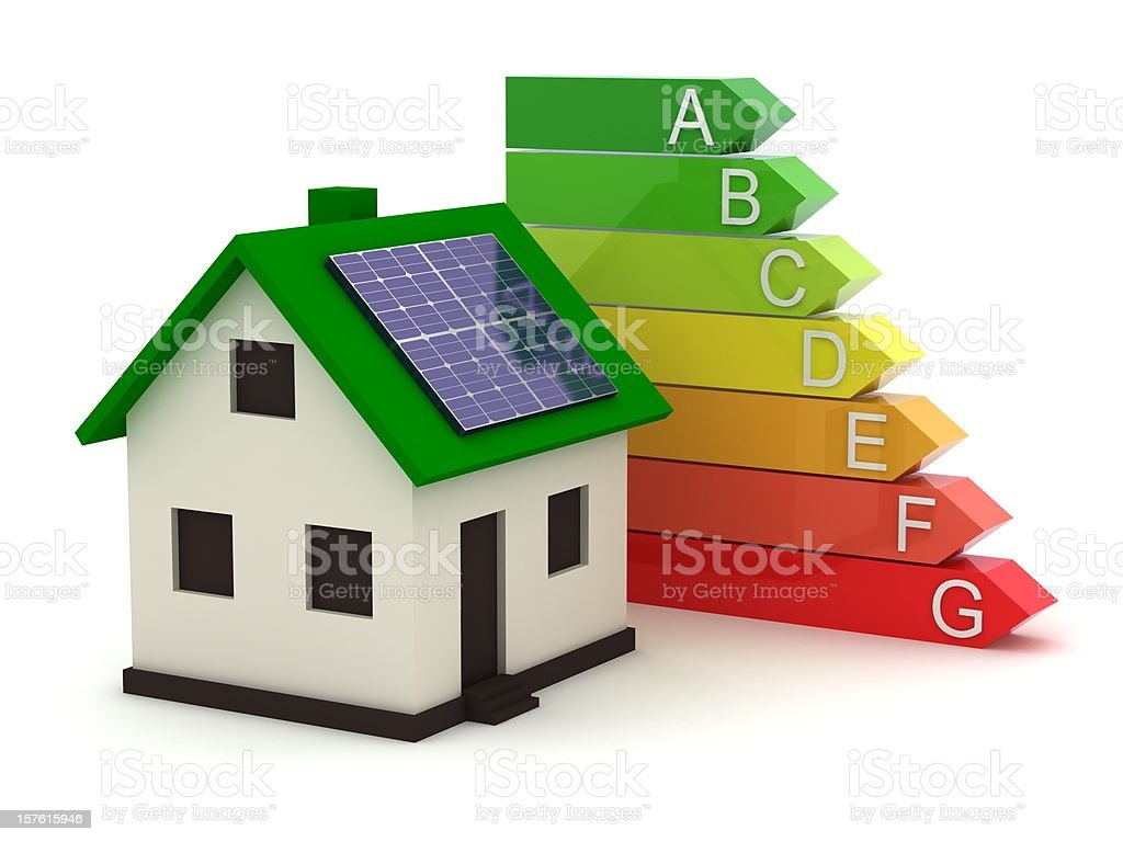 Energy Efficiency Rating royalty-free stock photo