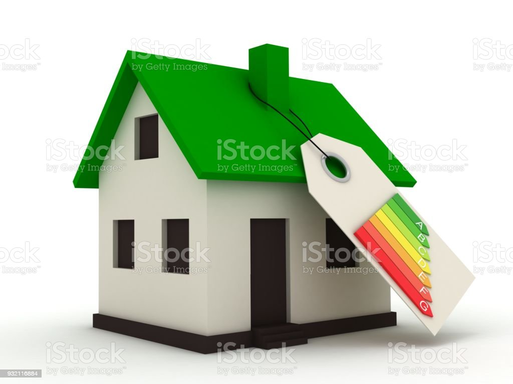 Energy Efficiency Saving House Home Rating Concept Stock Photo