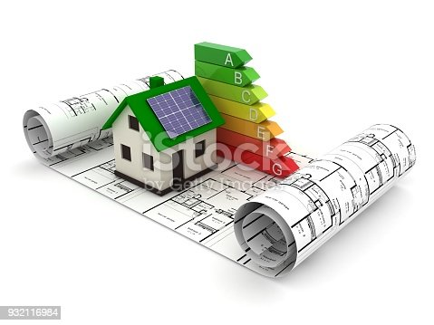 Energy efficiency saving house home rating concept