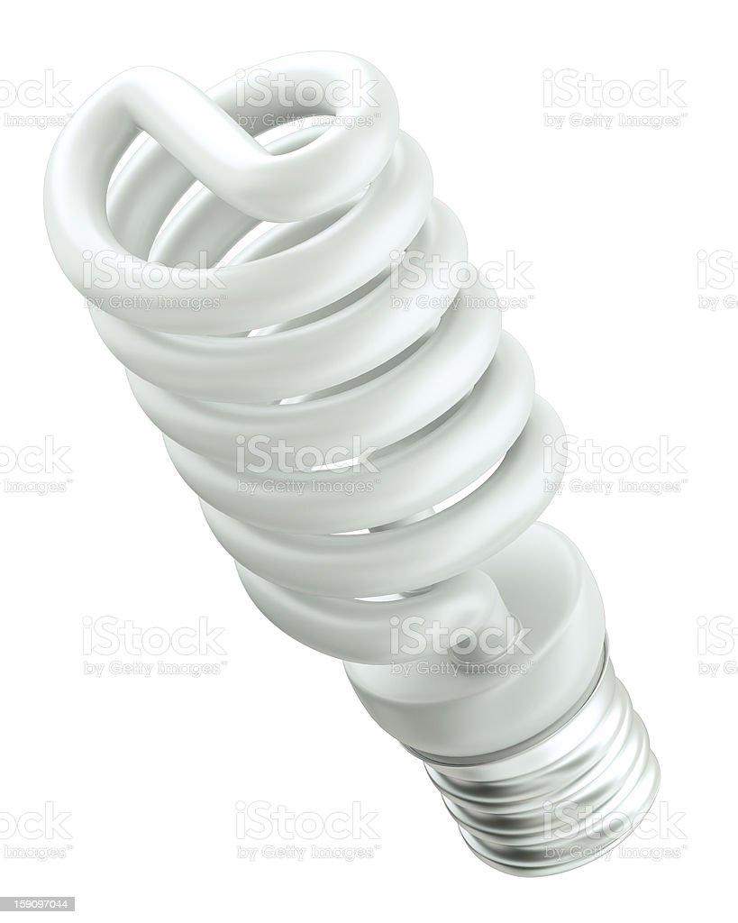 Energy efficiency: saving light bulb isolated royalty-free stock photo