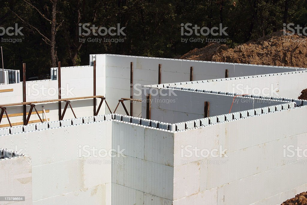 Energy Efficient Construction royalty-free stock photo