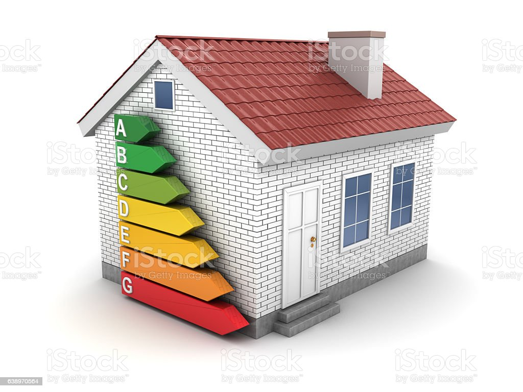 energy efficient house stock photo