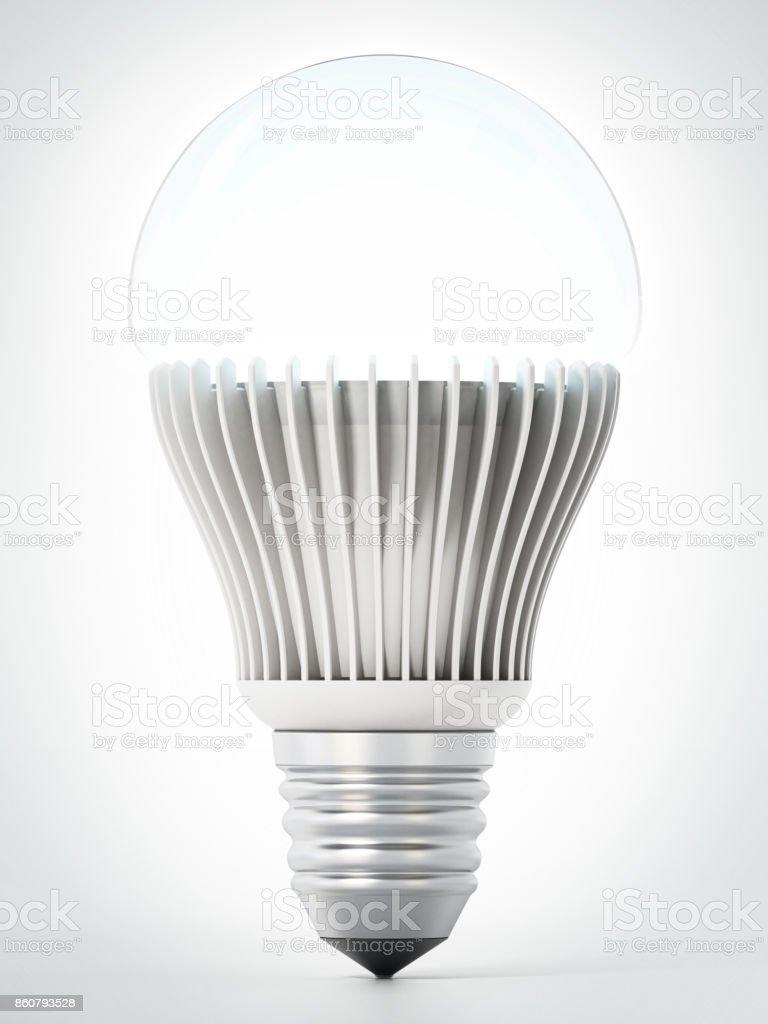 Energie effiziente Glühbirne isoliert auf weiss – Foto