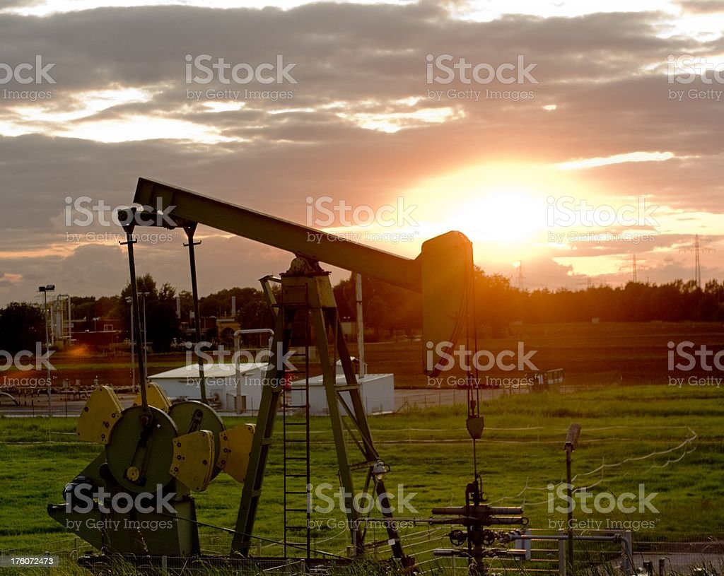 energy extraction royalty-free stock photo