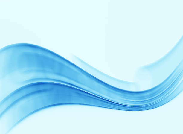 energy flow defocused blurred motion abstract background - wave pattern stock photos and pictures