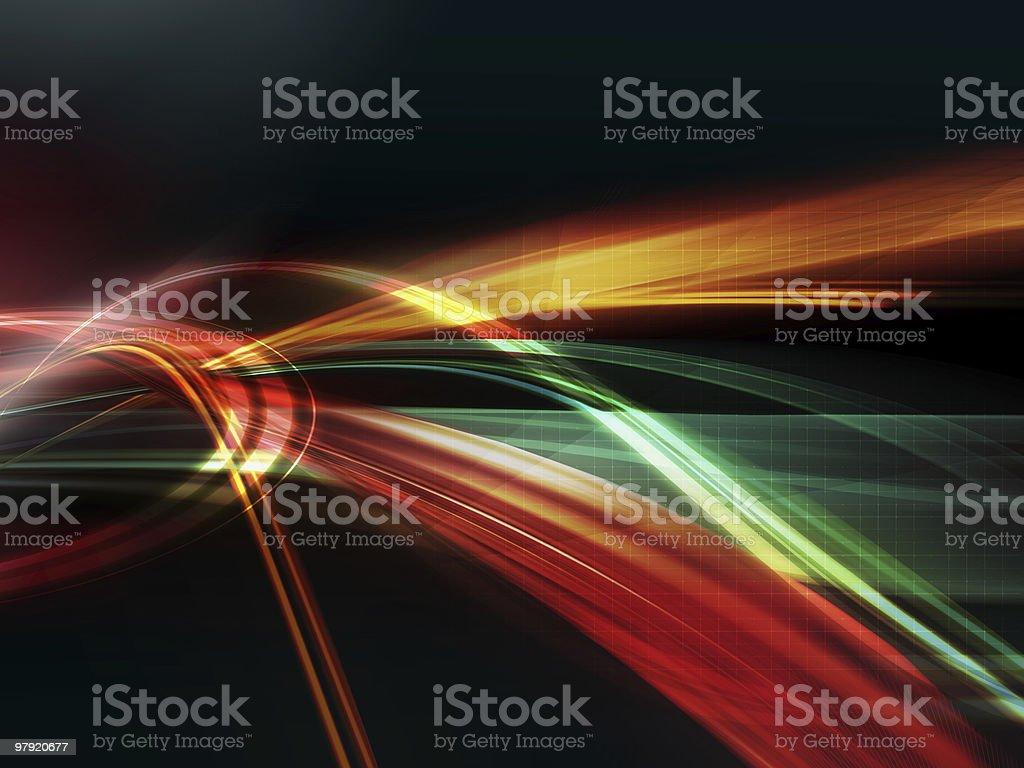 Energy flows royalty-free stock photo