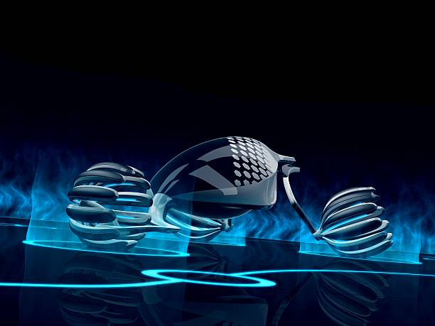 energy future concept car - tron sci fi bildbanksfoton och bilder
