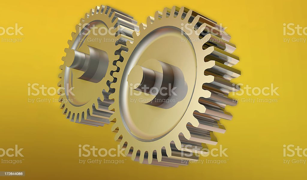 Energy gears - Warm Background royalty-free stock photo