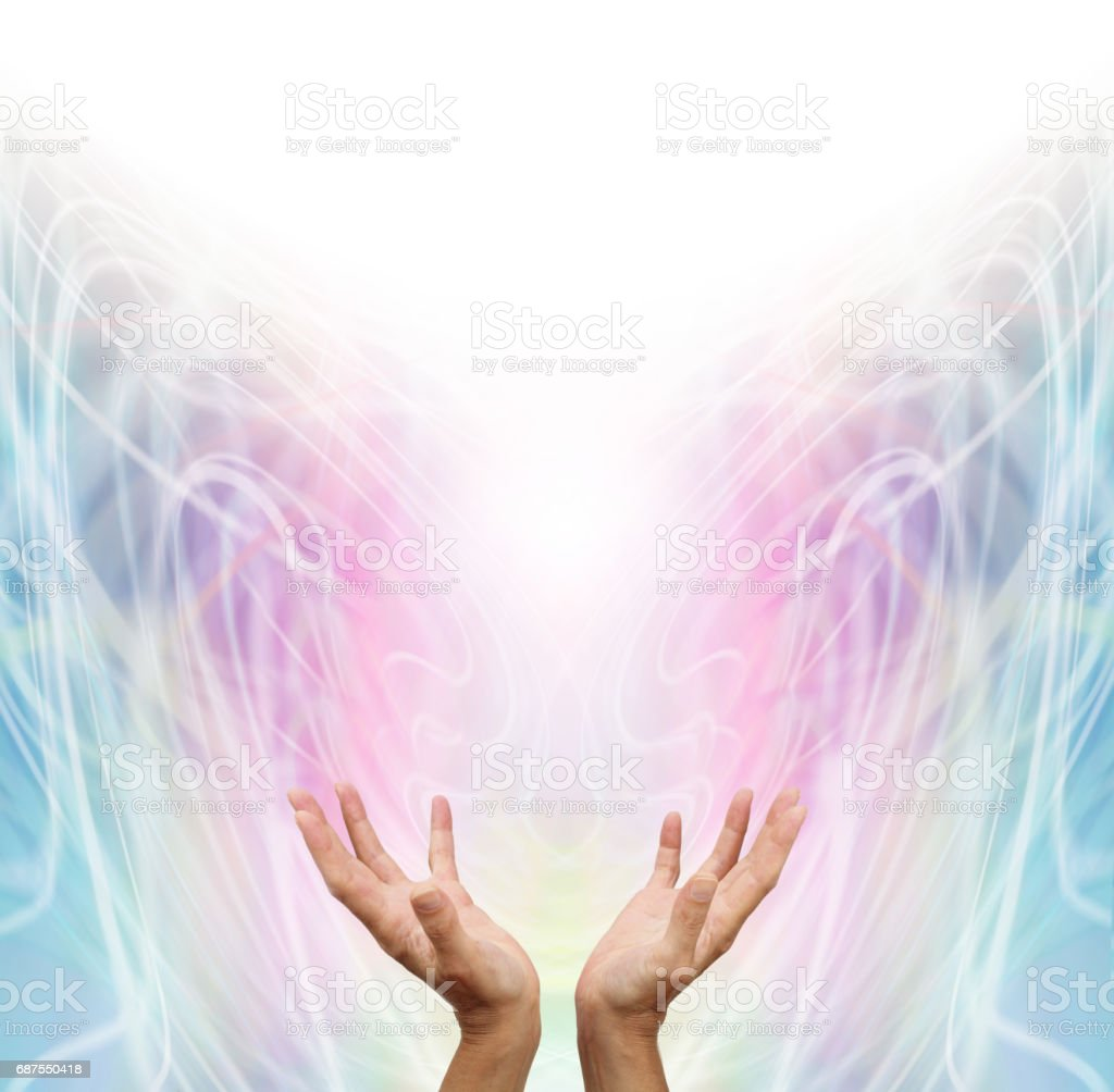 Energy Healer stock photo