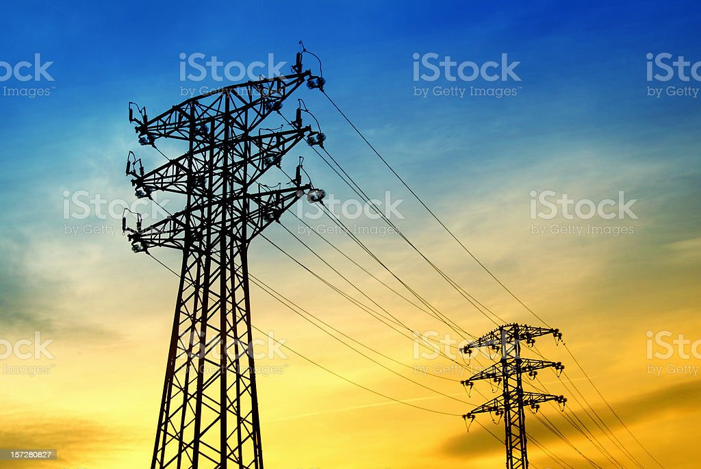 energy: high voltage tower royalty-free stock photo