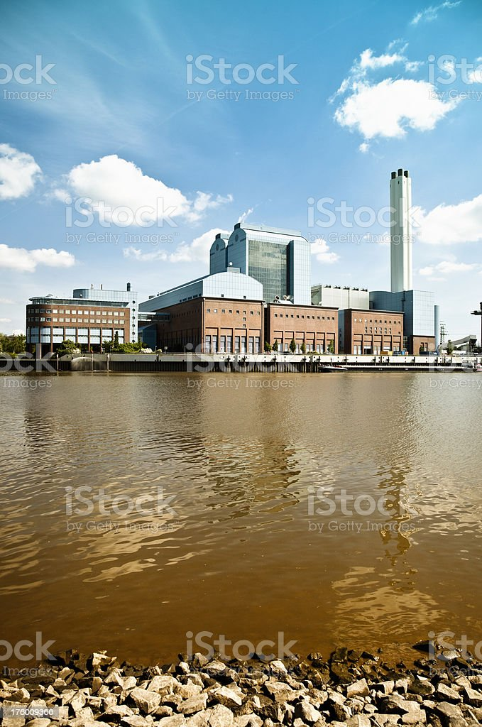 energy industry building, port hamburg royalty-free stock photo