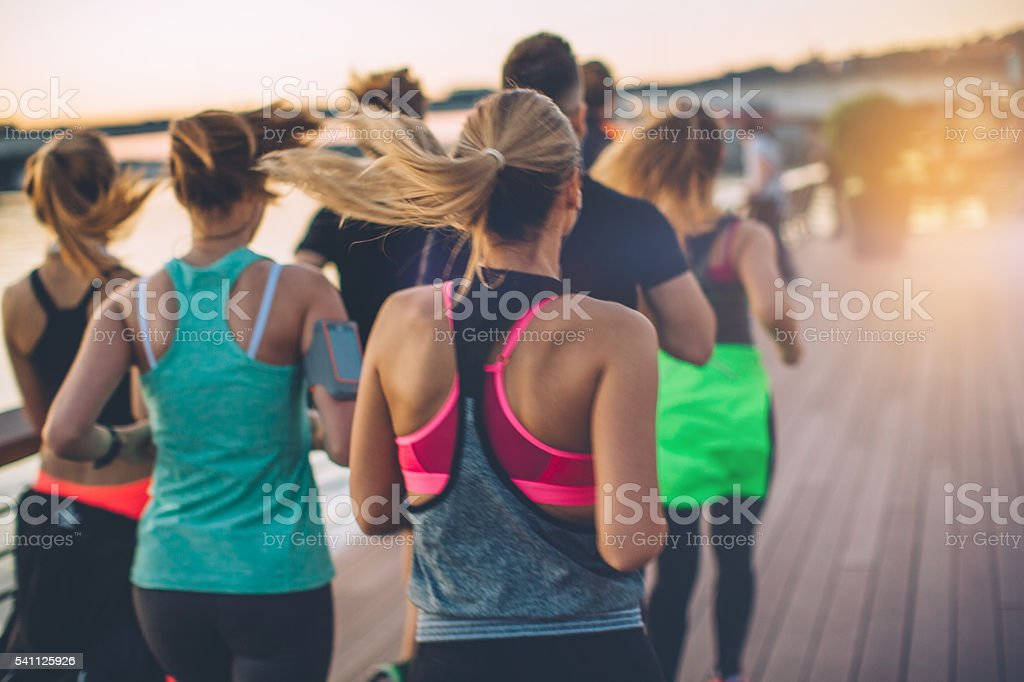 Energy is contagious. stock photo