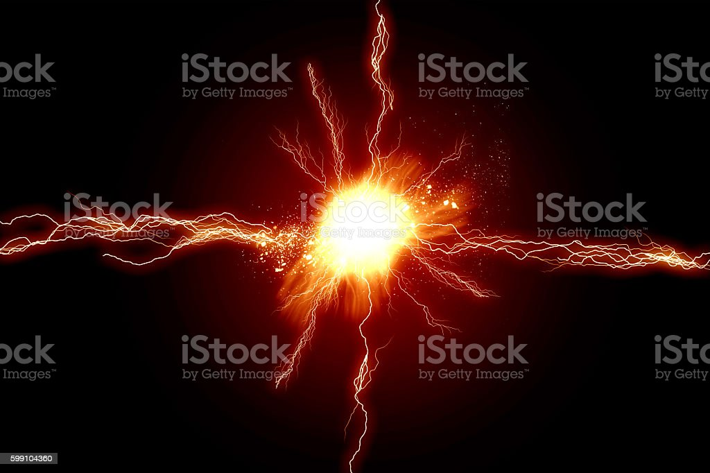 Energy lights stock photo