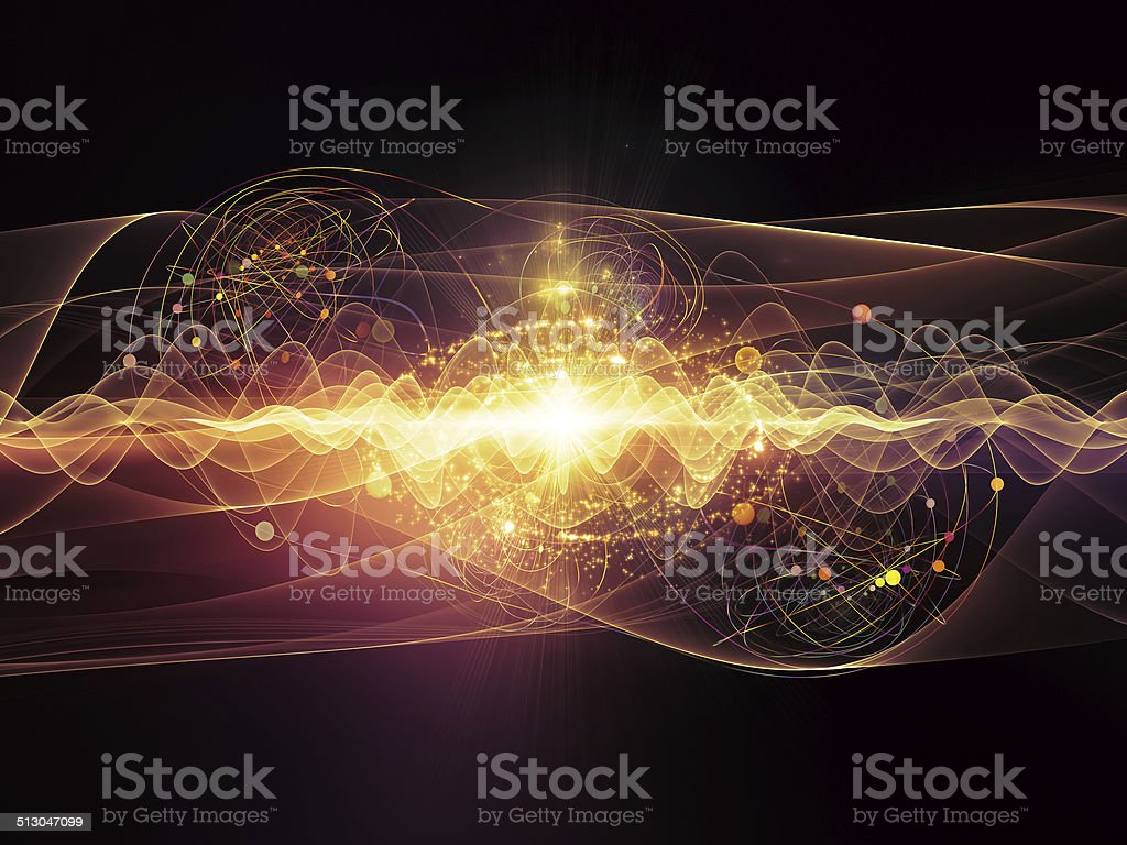 Energy of Atom stock photo