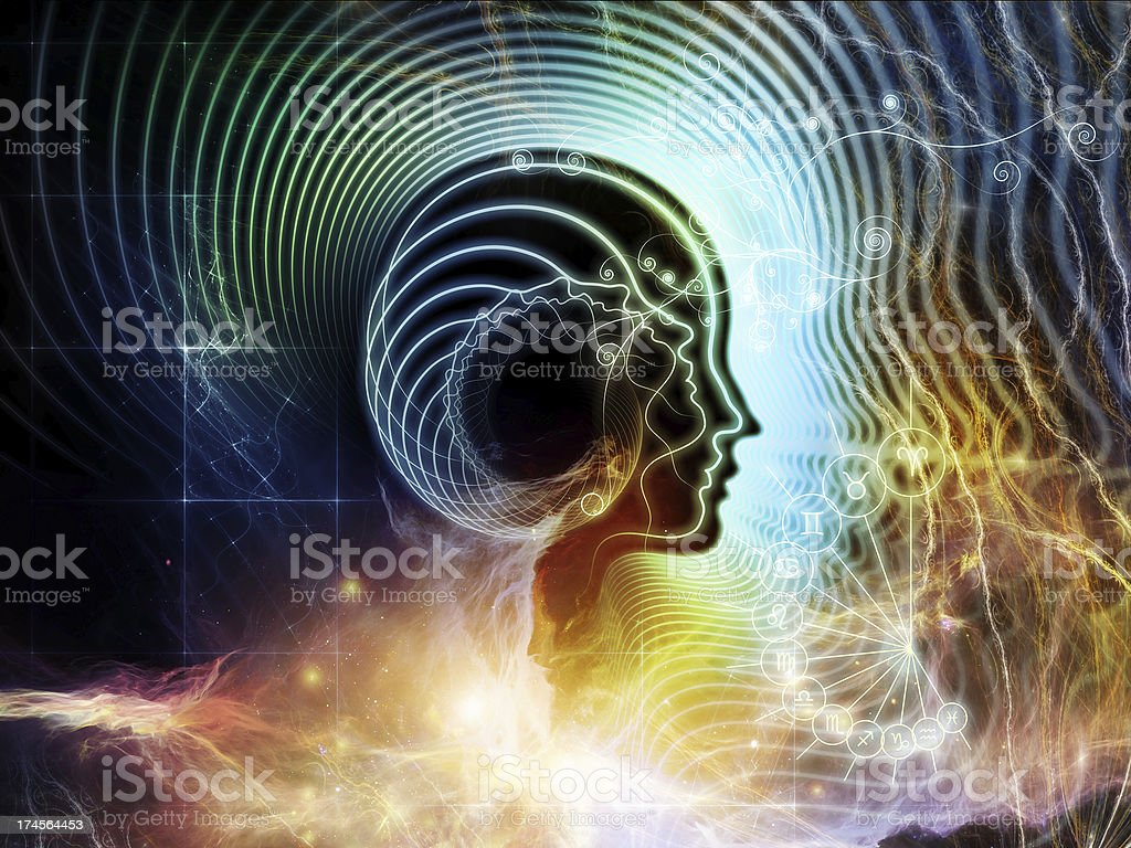 Energy of Human Mind royalty-free stock photo