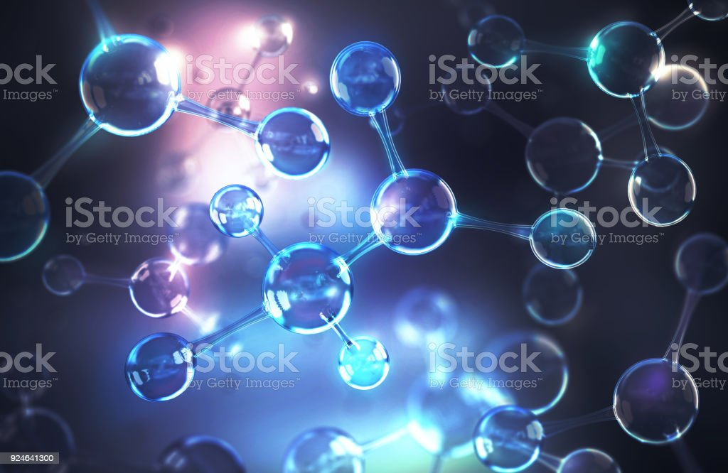 Energy of molecule or atom - Zbiór zdjęć royalty-free (Abstrakcja)