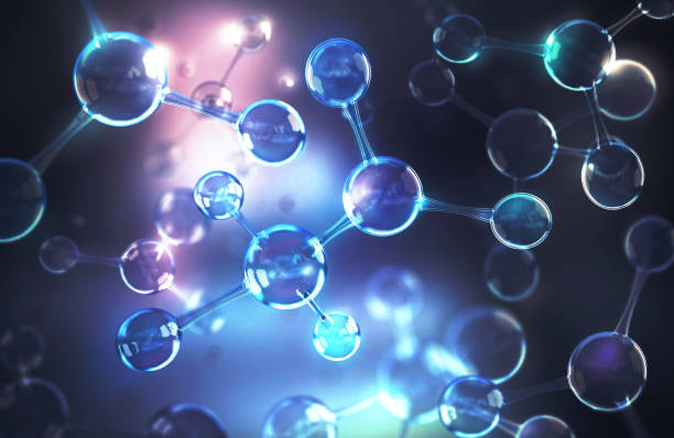 energy of molecule or atom - molecule stock photos and pictures
