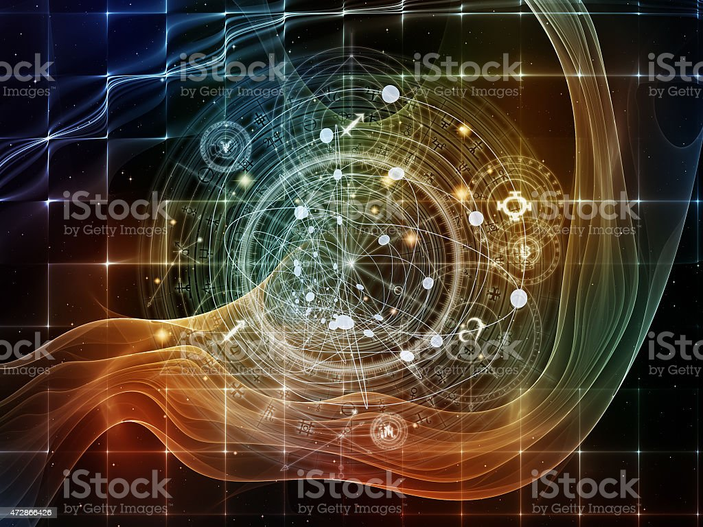 Energy of Sacred Geometry stock photo