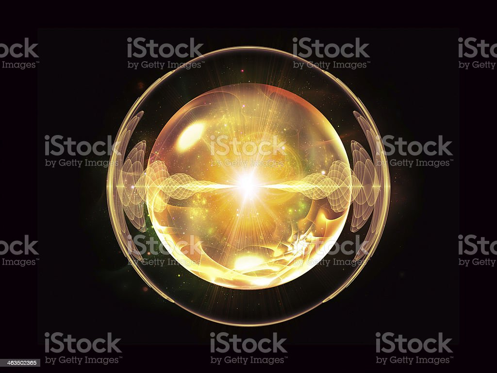 Energy of Wave Particle stock photo