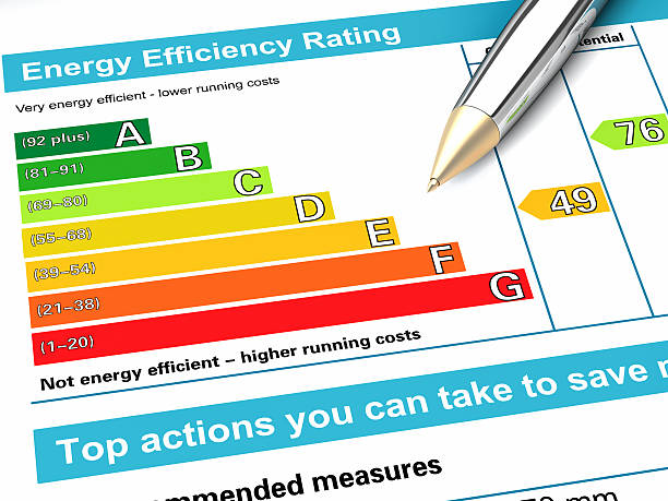 energy performance certificate - energy performance certificate stock photos and pictures