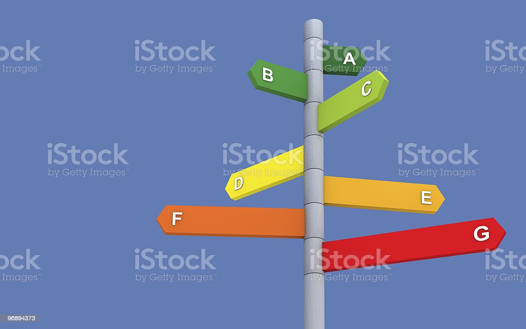 Energy performance directions royalty-free stock photo