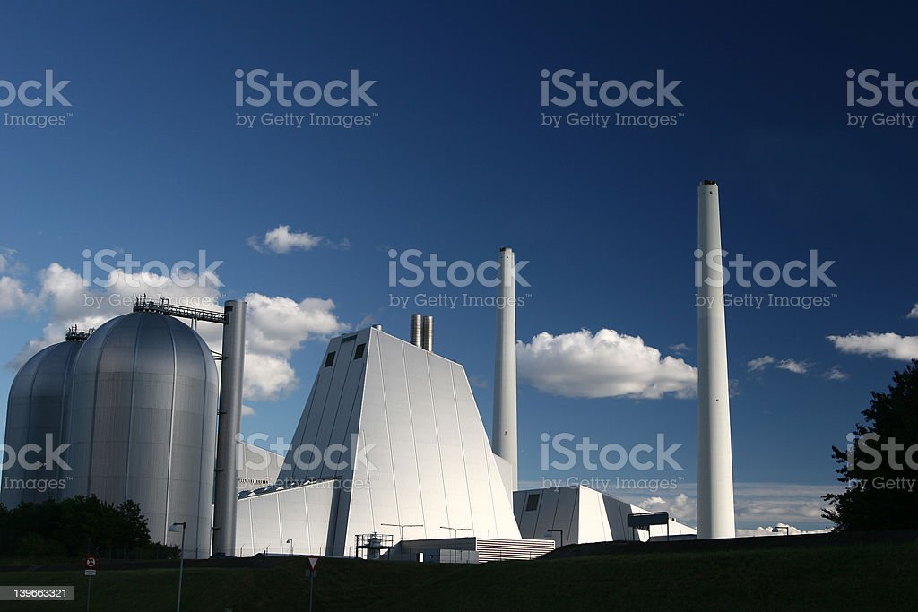 energy plant stock photo