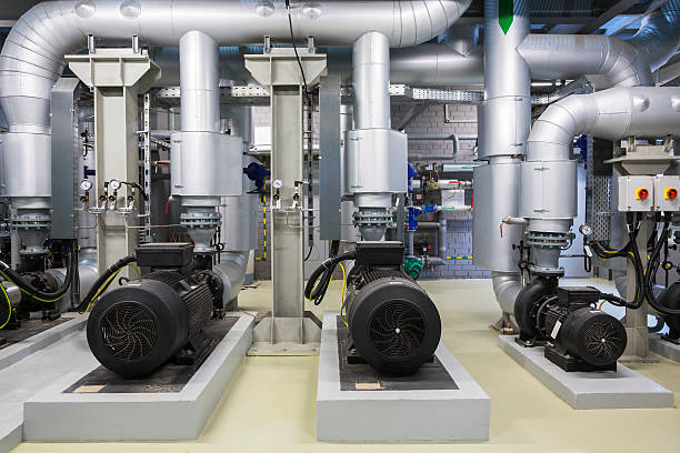 energy plant - cogeneration plant stock photos and pictures