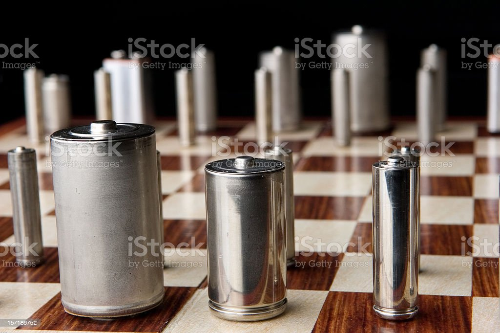 Energy Policy Game of Chess stock photo