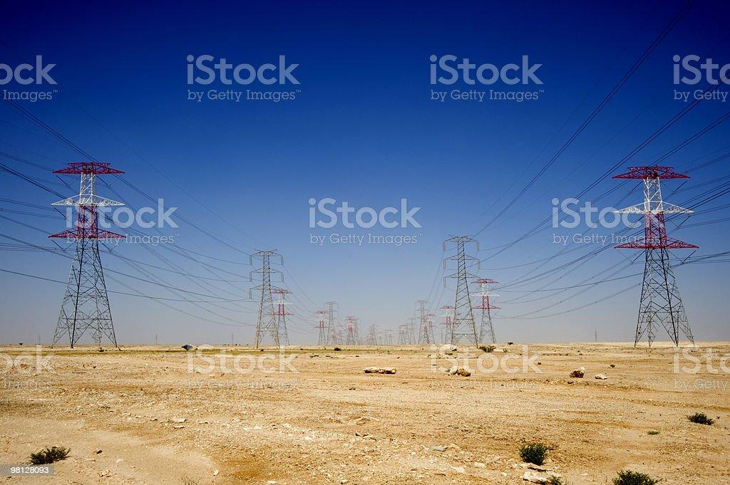 Energy, power in the Qatar desert royalty-free stock photo