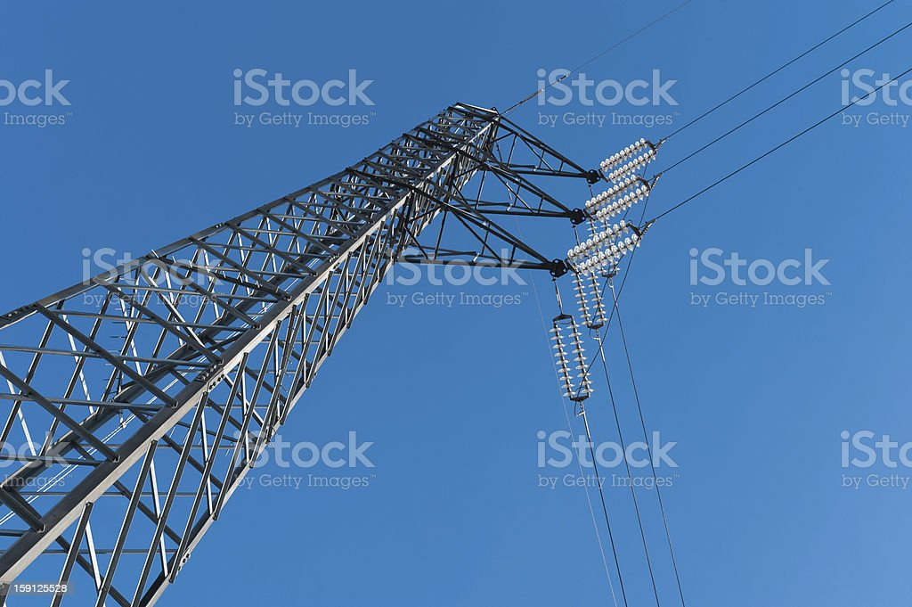 Energy, power line royalty-free stock photo