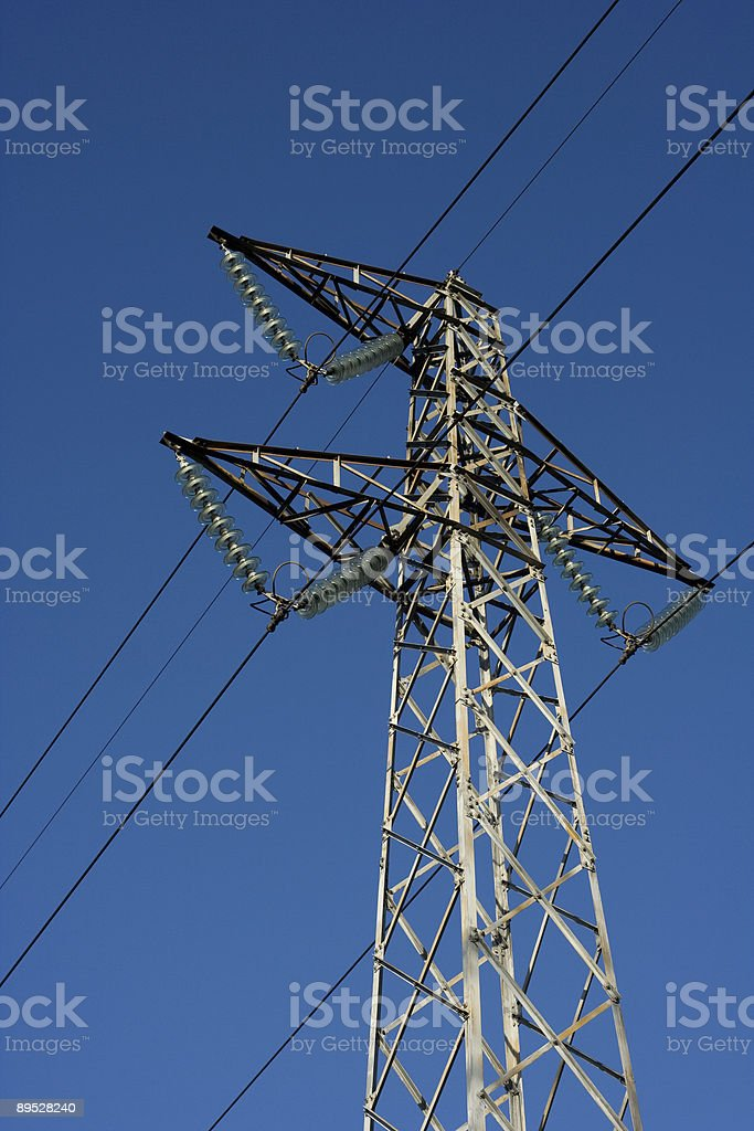 Energy - power lines 免版稅 stock photo