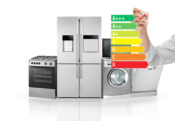 appareils d'économiseur d'énergie - efficacité énergétique photos et images de collection