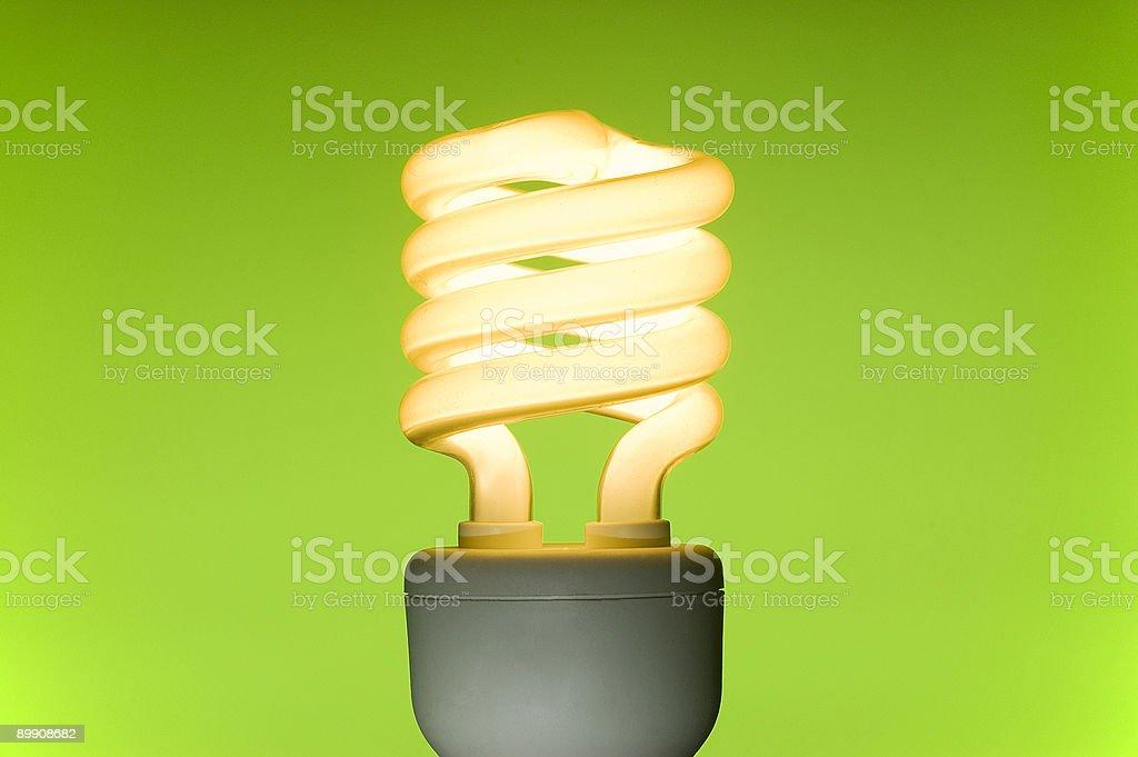 Energy saving fluorescent light bulb royalty-free stock photo