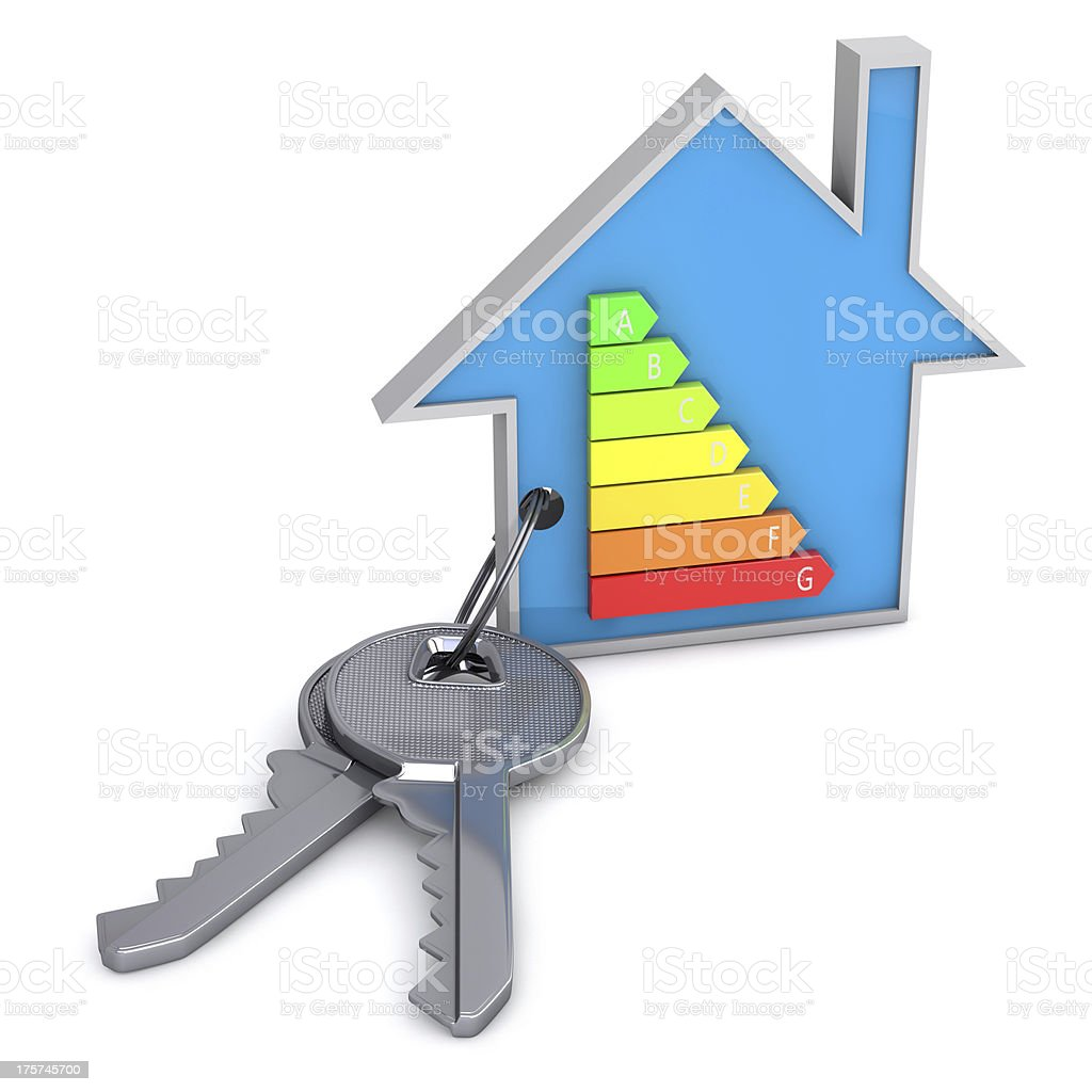 Energy saving house stock photo