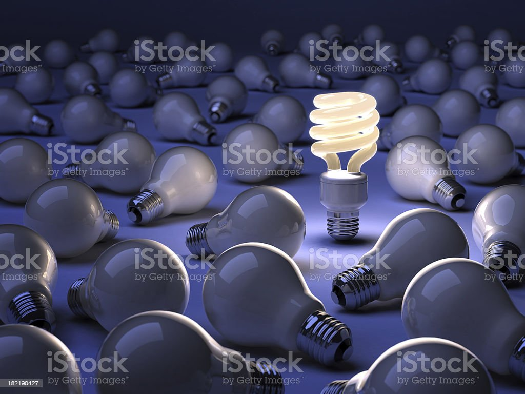 Energiesparende Lampe – Foto