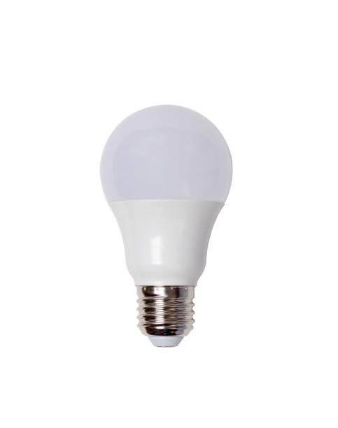energiesparende led birne e27 closeup isoliert auf weißem hintergrund - glühbirne e27 stock-fotos und bilder