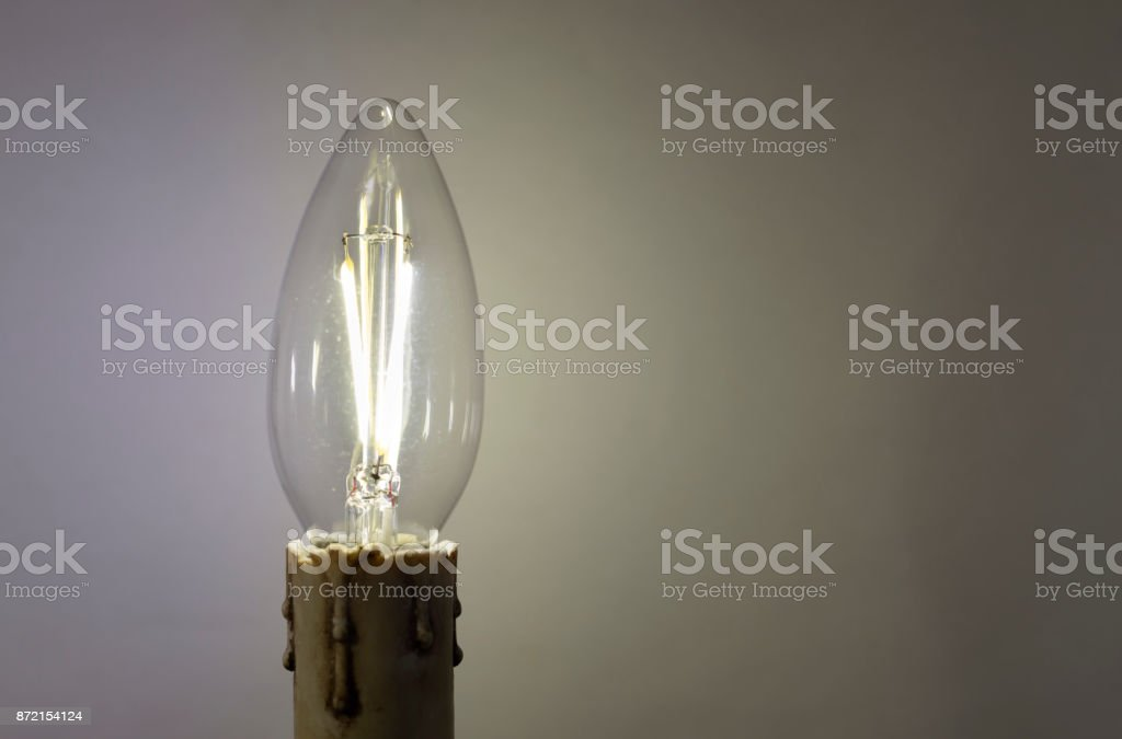 Energy saving LED light bulb stock photo