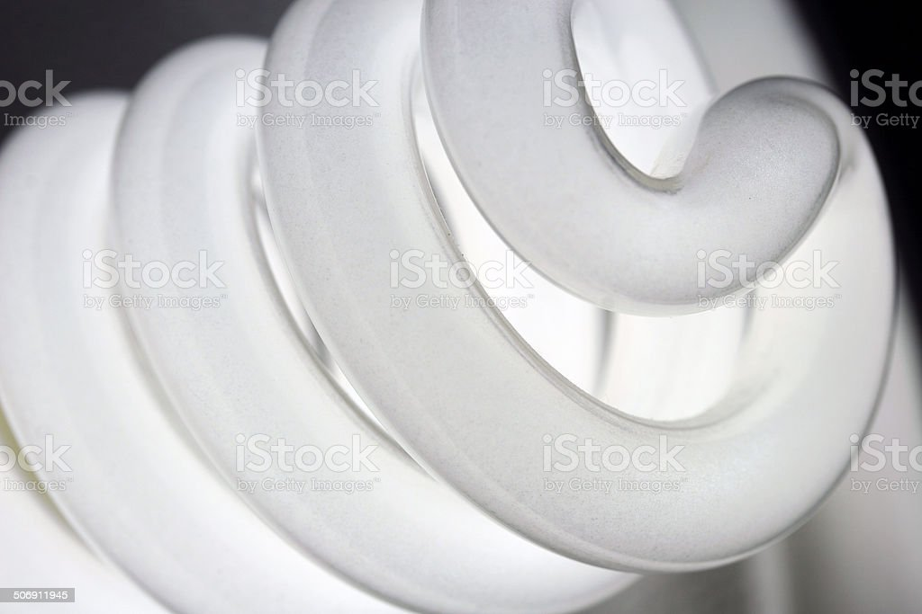 Energy Saving Light Bulb Filament stock photo