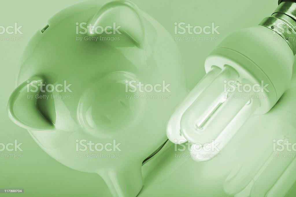 Energy savings stock photo