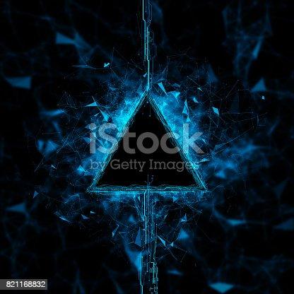 827387052 istock photo Energy stream Hologram 821168832