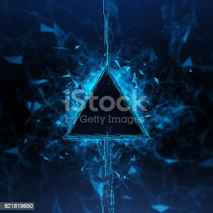 827387052 istock photo Energy stream Hologram 821819650