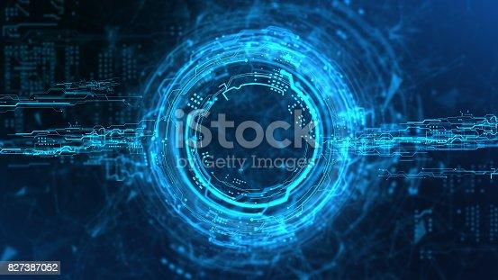 istock Energy stream Hologram 827387052