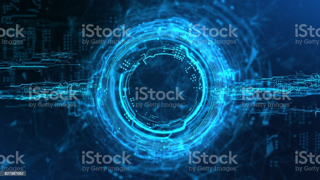 Energy stream Hologram stock photo