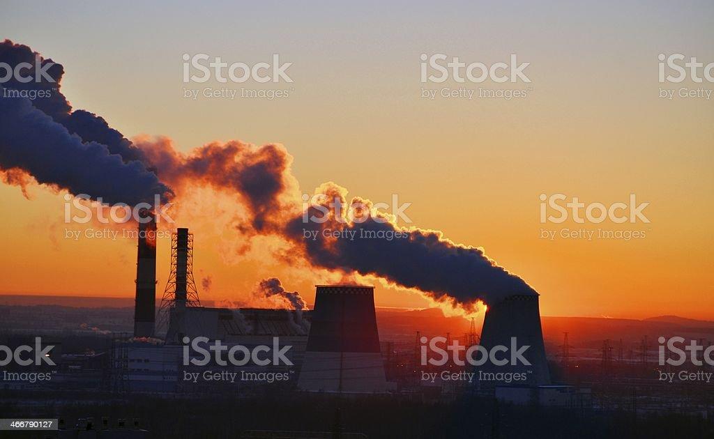 Energy sunset. stock photo