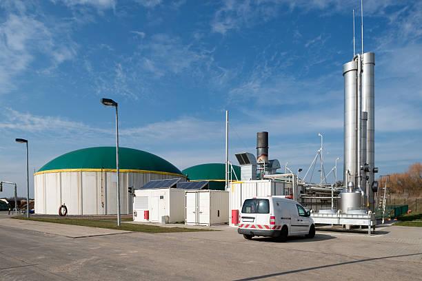 Energiewende, Bioenergie, Biogas energy, Germany. stock photo