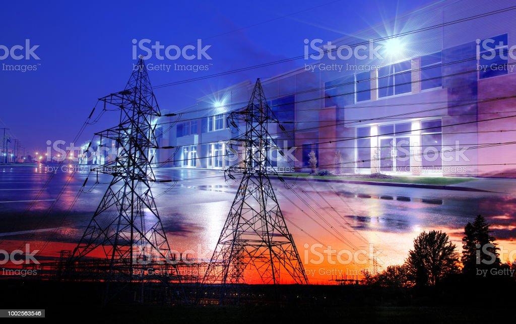 Energy Transport and Destination stock photo